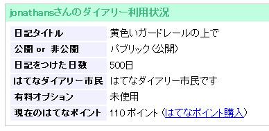 500days!