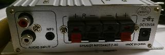 Lepai LP-2020A+ Tripath TA2020-020の背面