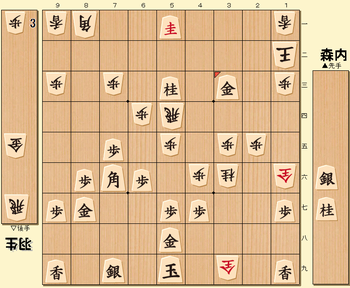 将棋第69期名人戦七番勝負第7局の投了図