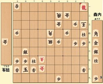 将棋第70期名人戦七番勝負第1局の投了図