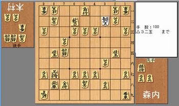 第69回NHK将棋トーナメント 森内俊之九段vs木村一基王位の投了図