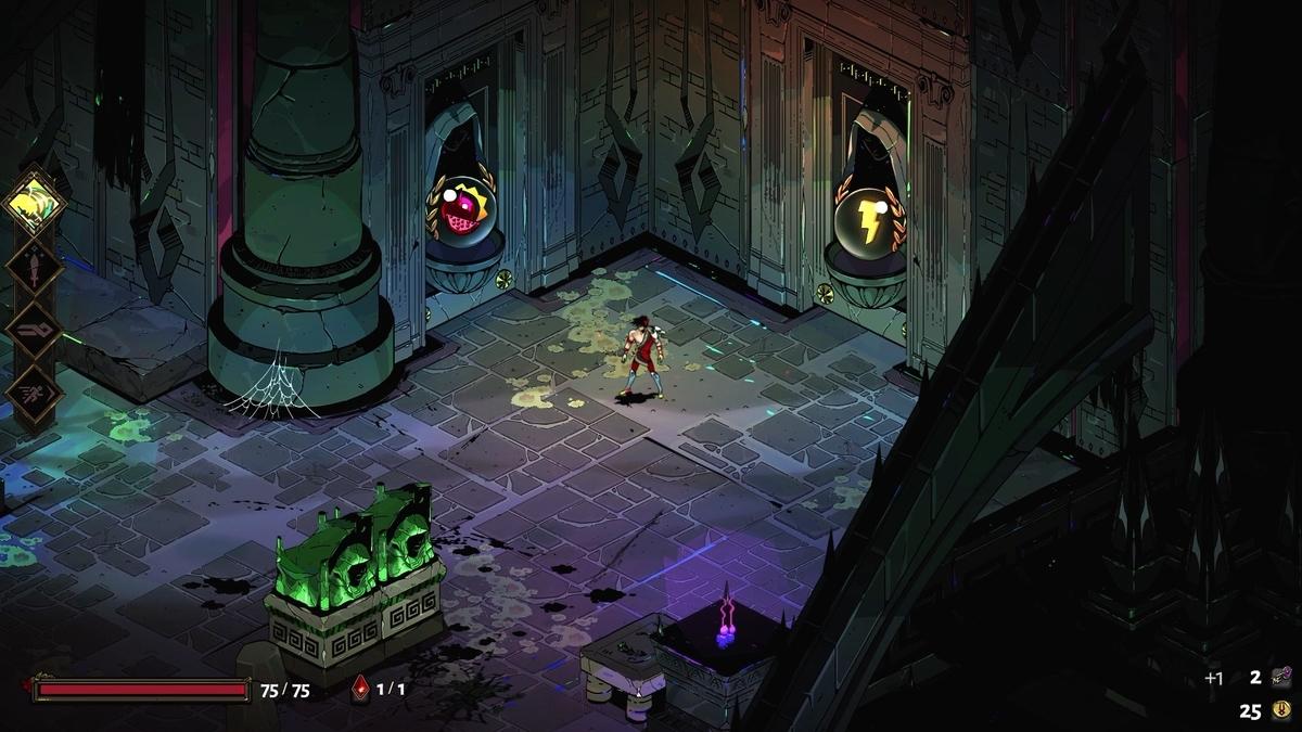 SteamのゲームHadesのダンジョン画像