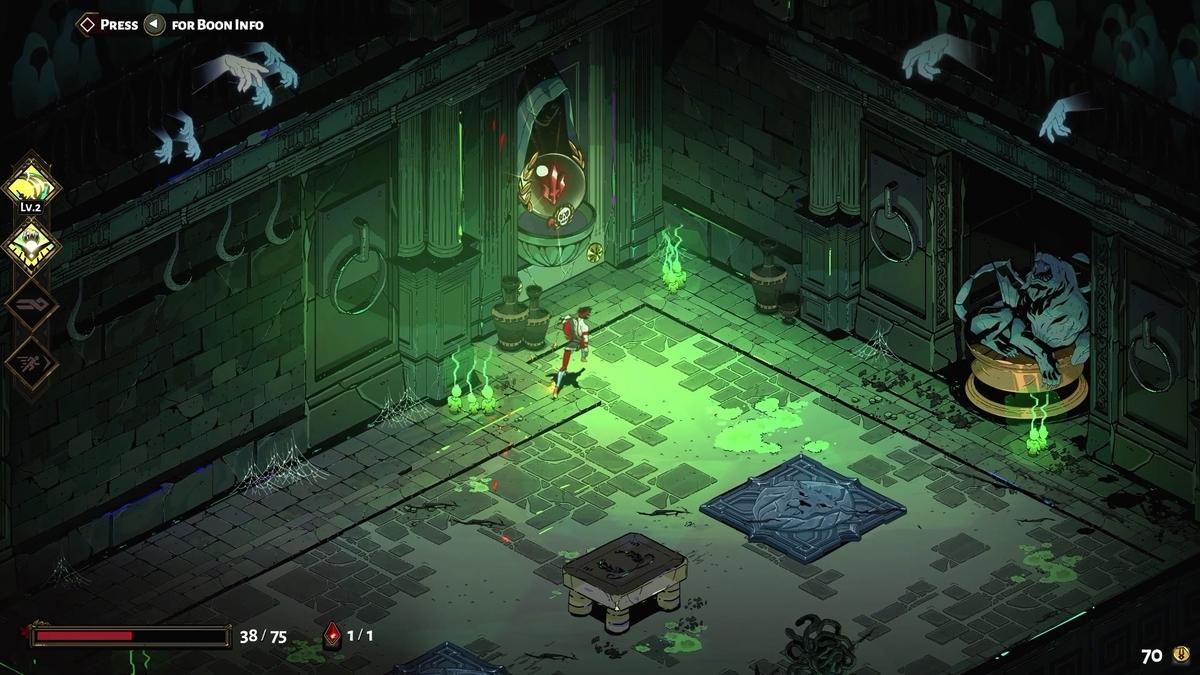 SteamのゲームHadesのダンジョンの画像2