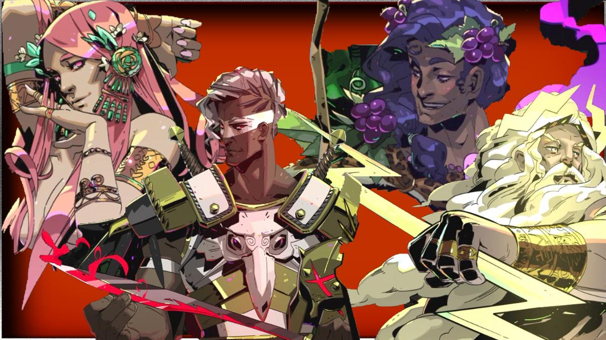 SteamのゲームHadesに登場するオリンポスの神々の画像