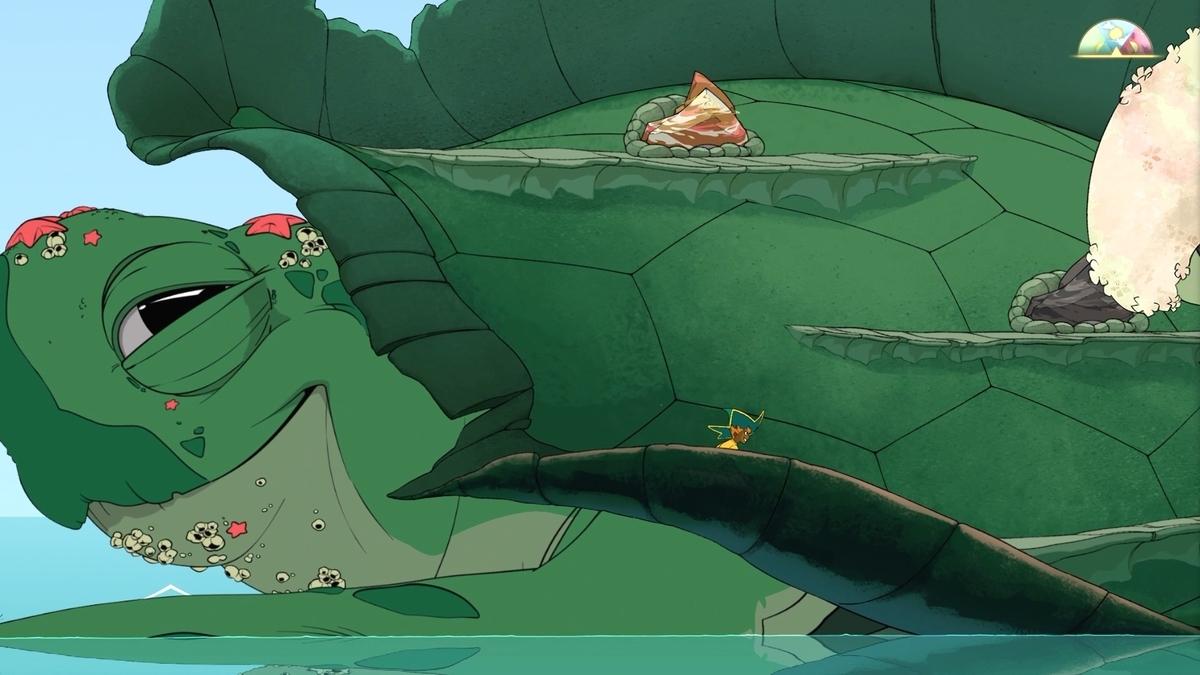 Spiritfarerに出来くる大きな海亀のオルガの画像