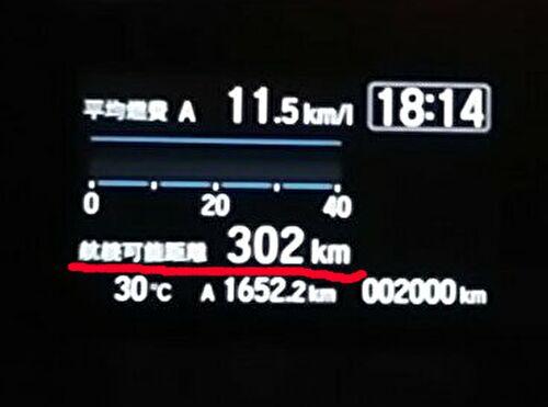 デジタルメーターの航続可能距離を説明する画像