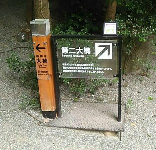 第二大楠への看板の画像