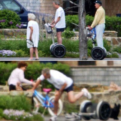 ブッシュ前大統領がセグウェイで事故?
