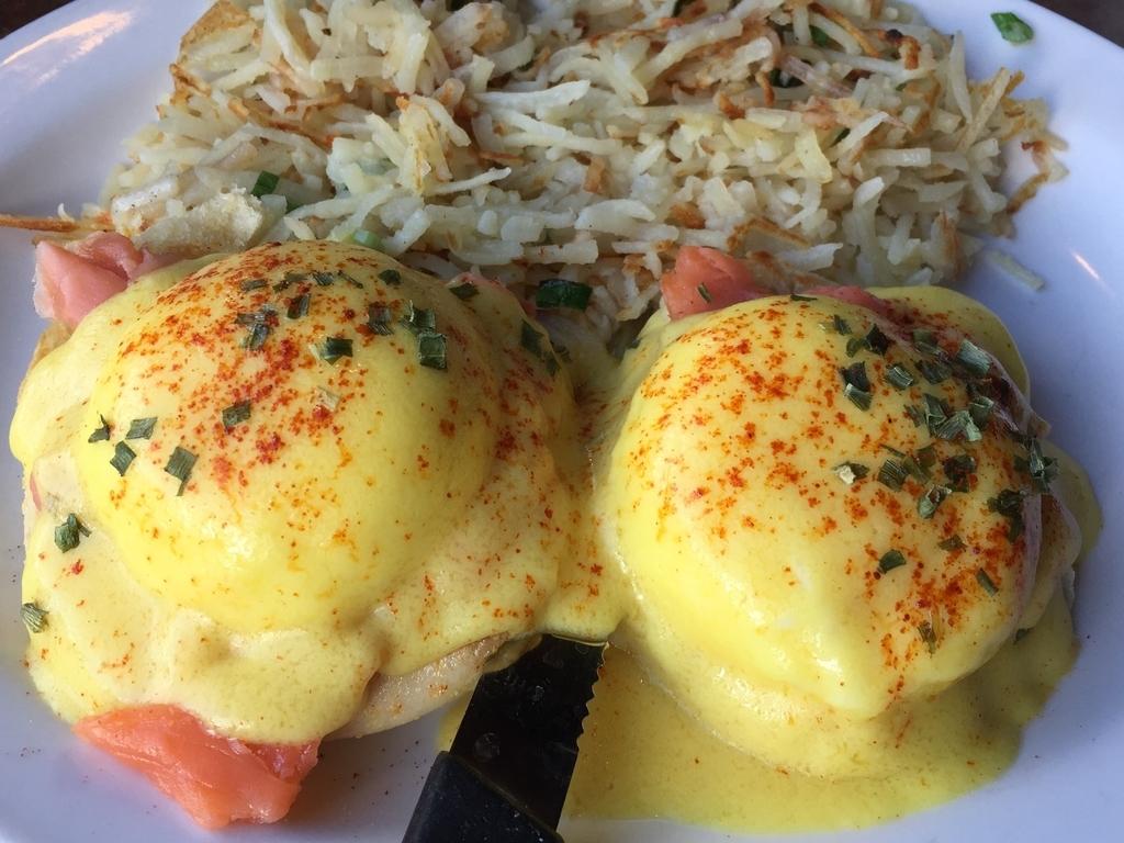 メリッサレストランのエッグベネディクト