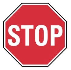 カナダの一時停止道路標識