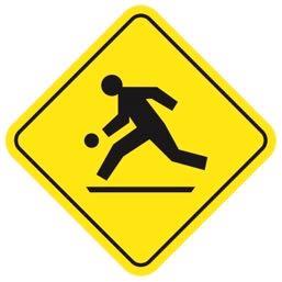 カナダのプレイグラウンドゾーン道路標識
