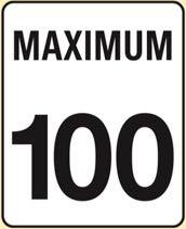 カナダの最高速度道路標識