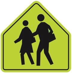 カナダのスクールゾーン道路標識
