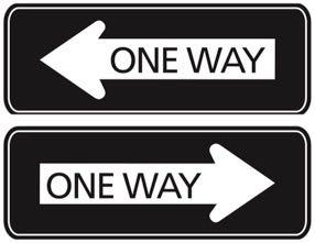 カナダの一方通行道路標識