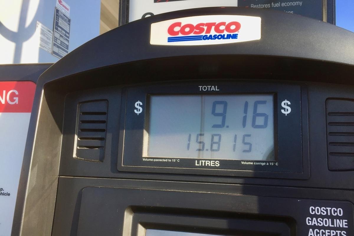 カルガリーのガソリン価格