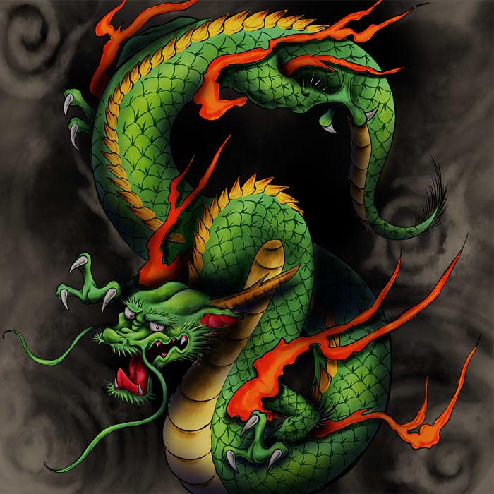 商用利用可】龍のイラスト無料フリー素材|龍専門の絵師が描いたのでかっこいい - 龍の絵描く人のブログ