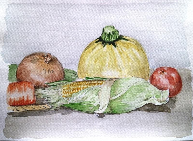 2017 0716 夏野菜玉蜀黍 ズッキーニ