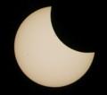 [金環日食][PENTAX][K20D]黒点のあたりまで欠けてきた