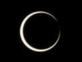 [金環日食][PENTAX][K20D]金環寸前(左上の縁にある赤い点はプロミネンス?)