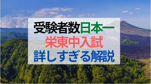 【中学受験2021】日本一の受験者数『栄東中学校』詳しすぎる入試解説と対策