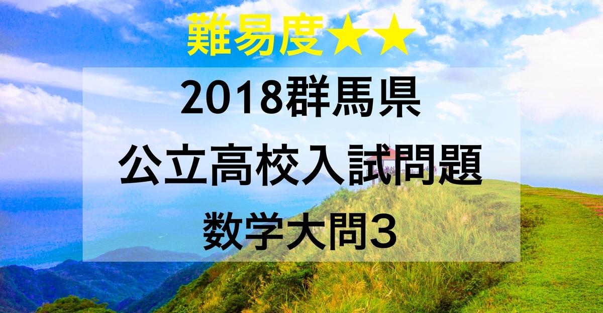 2018群馬数学3
