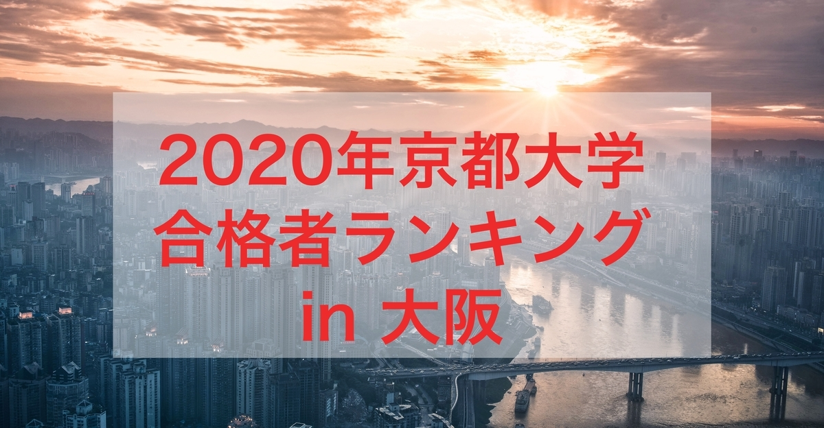 2020京都大学ランキング