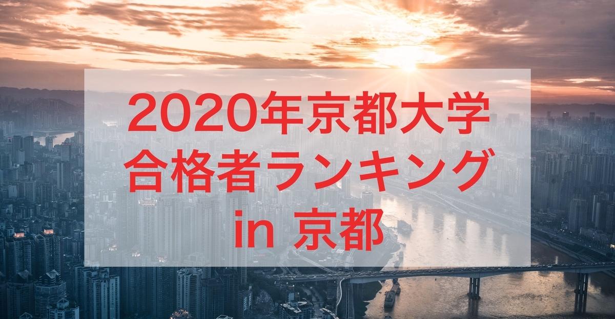 2020年京都大学合格者ランキング