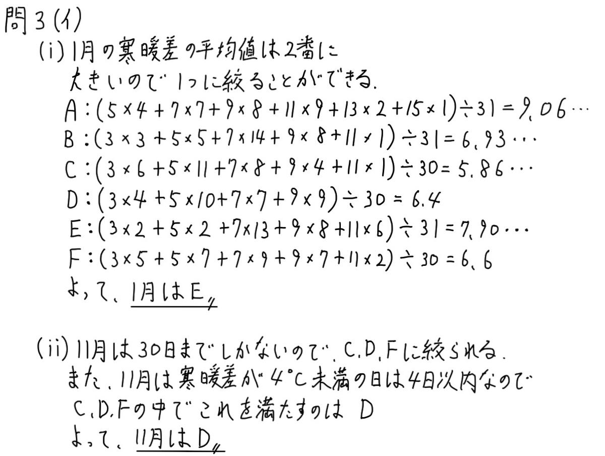 2020神奈川数学3イ