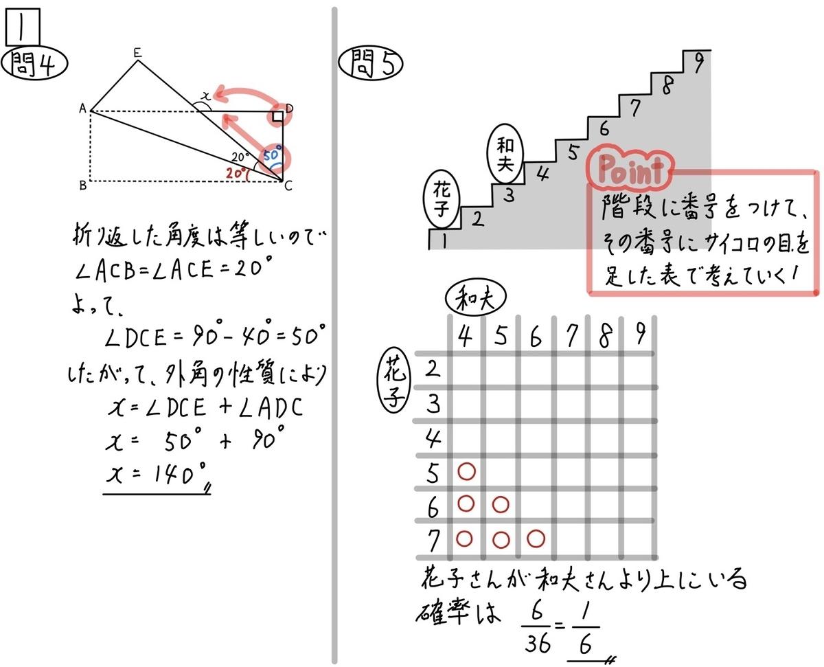 2020和歌山公立数学1_4-5