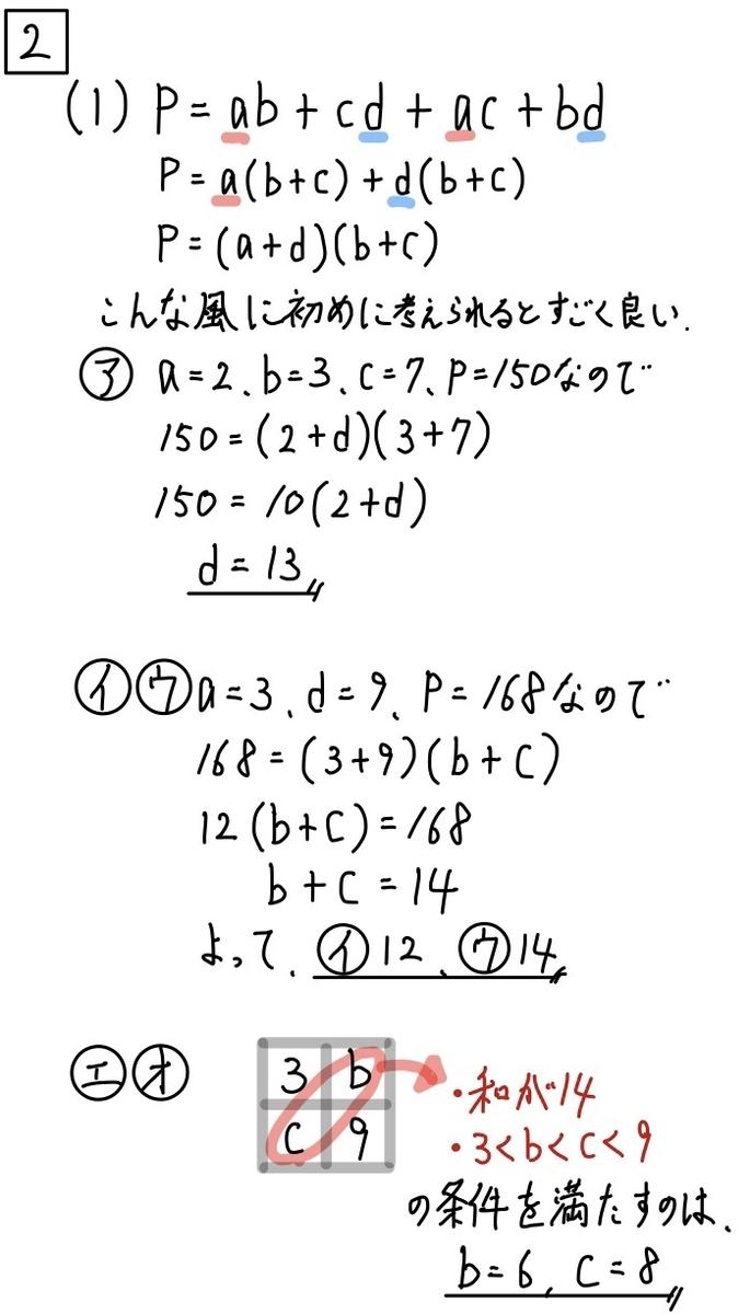 2020青森公立数学2−1
