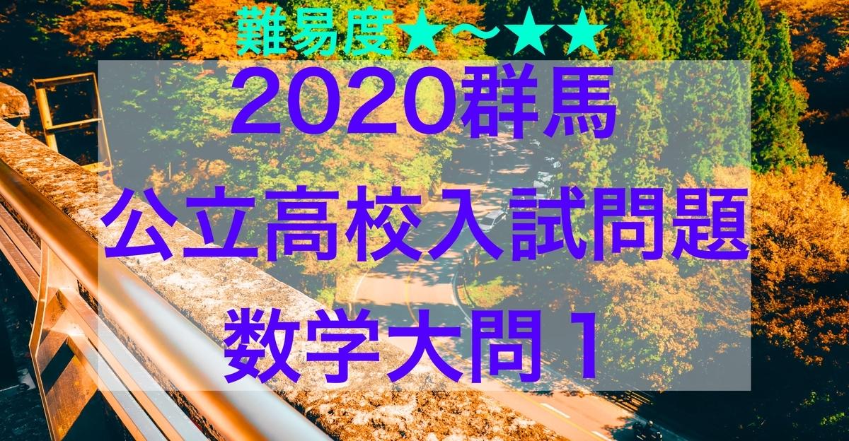 2020群馬公立数学1