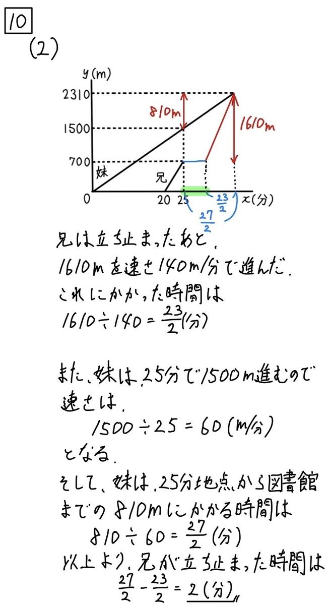 2020岩手公立数学10−2