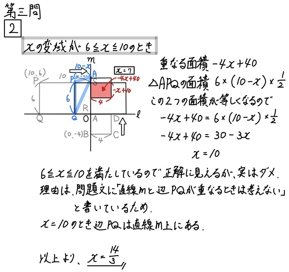 2020山形公立数学3−2
