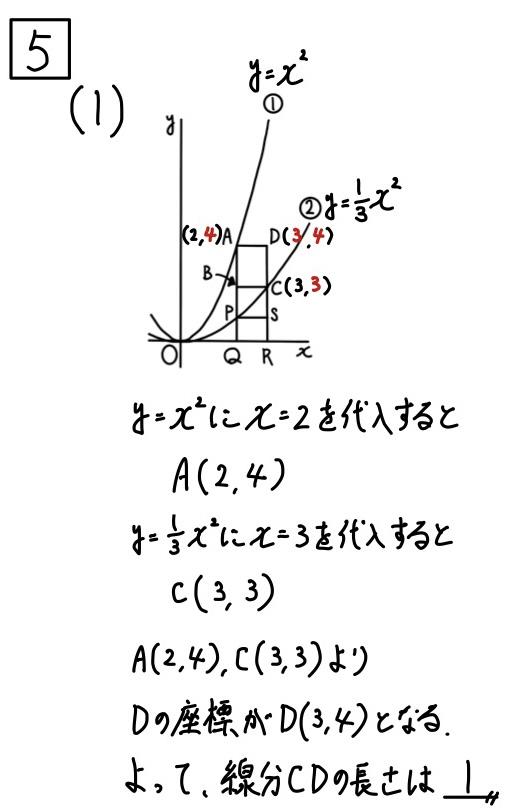 2020福井公立数学5−1