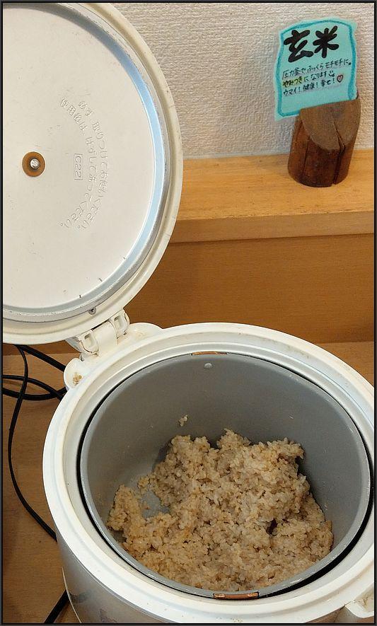 圧力鍋で炊いた玄米