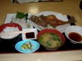 【2009年バイクの旅】石川の健康ランドで食べたホッケ定食