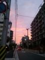 【2011/7/8】 会社帰りの夕焼け