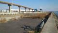モノレール脇