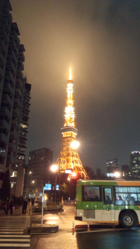 面接帰りの東京タワー