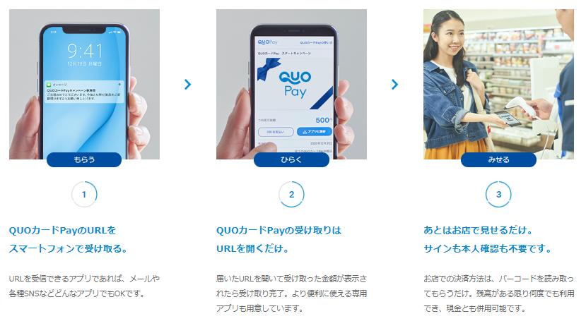 QUOカードPay 使い方