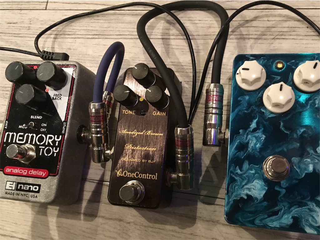 Leqtique maestosoとOneControl Anodized Brown Distortion