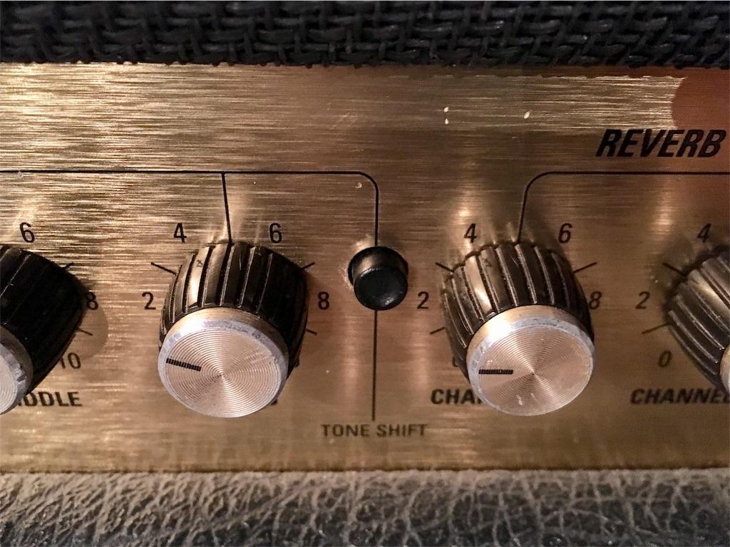 Marshall JCM2000のTONE SHIFTボタン