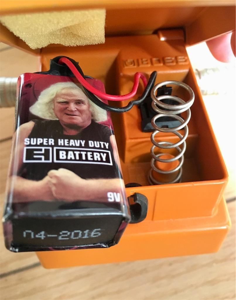 BOSSエフェクターと乾電池
