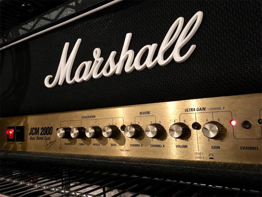 Marshall JCM2000のイコライジングの画像です