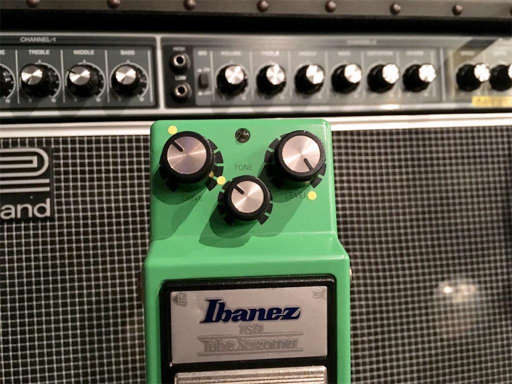 Ibanez TS9とJC120