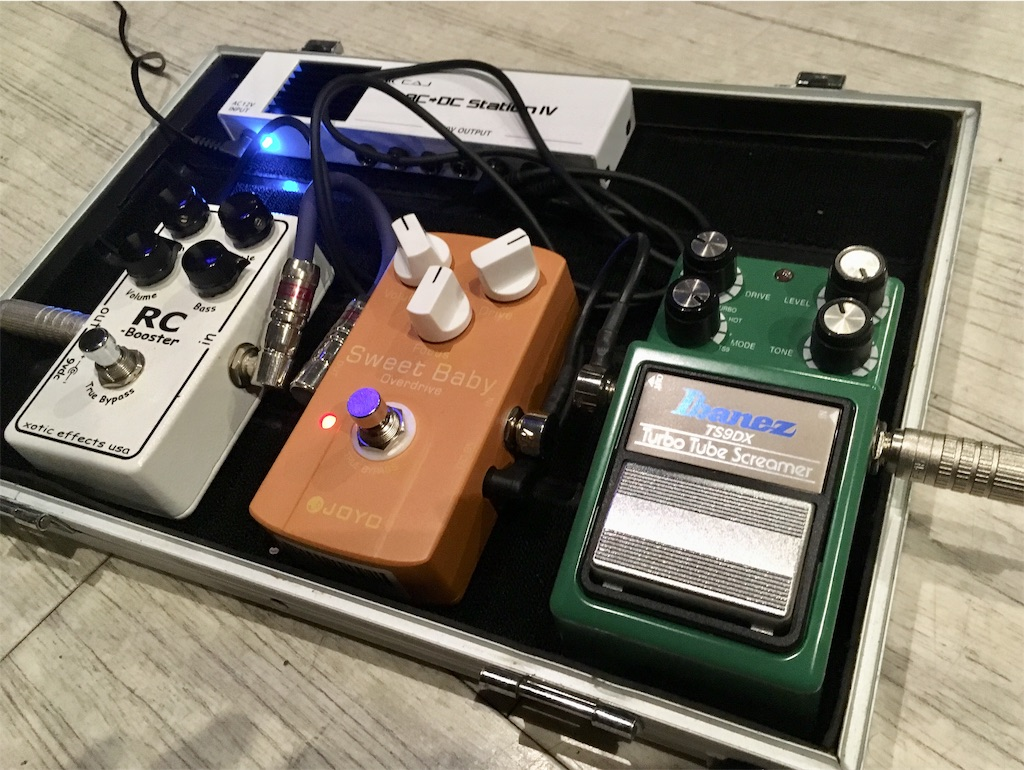 Ibanez/TS9DXとSweet Baby OverdriveとRC booster