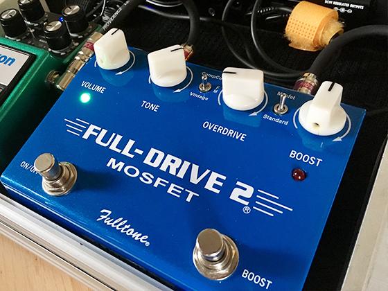 もう一つ、例題のモデルで、Fulltone「Fulldrive」。