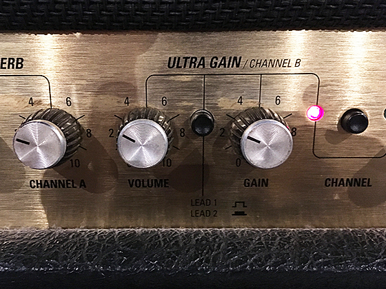 Marshall JCM2000は、ULTRA GAIN CHANNEL BのLEAD1チャンネルの画像です