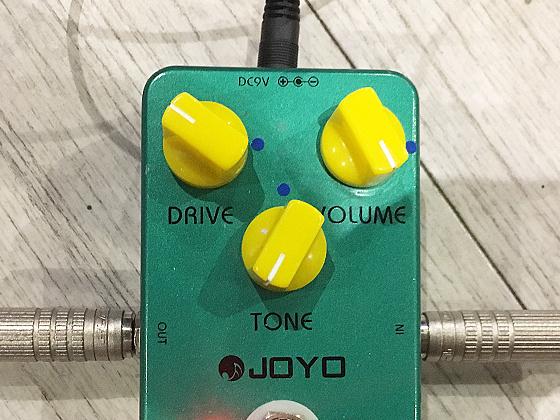 JOYO Vintage Overdriveのセッティングの画像です