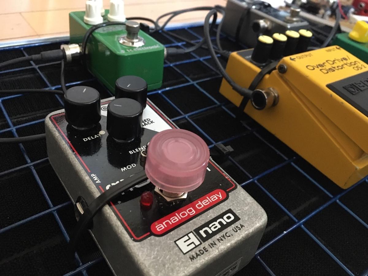 自作エフェクターボードの画像です。